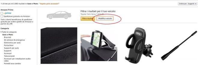 trovare accessori per auto online