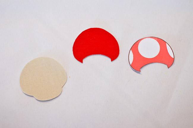 Cut out mushroom cap