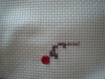 cross stitch WIP