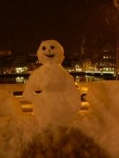 Travis the snowman!