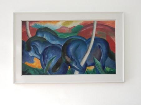 Franz Marc, Die großen blauen Pferde [The Large Blue Horses] (1911)
