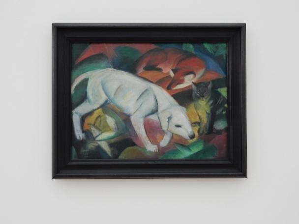 Franz Marc, Drei Tiere (Hund, Katze und Fuchs) [Three animals: Dog, Cat and Fox], 1912