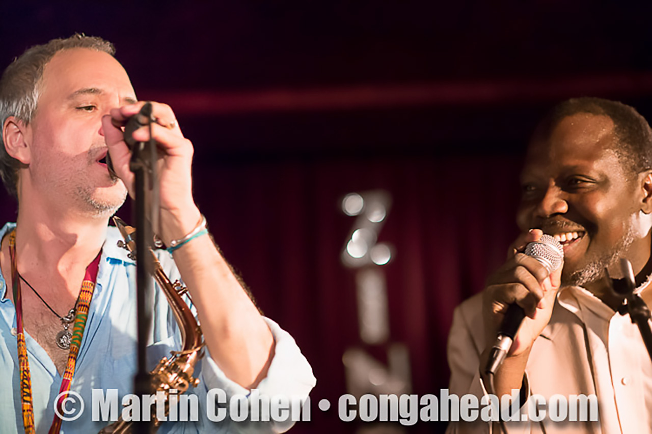 Sylvian Leroux with Abdoulaye Diabaté-Source at the Zinc Bar, NYC.  June 1, 2012