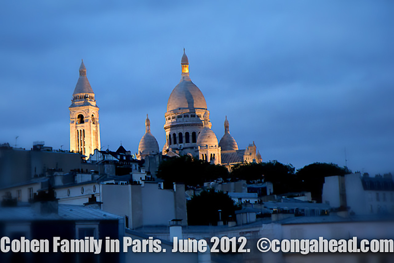 The Cohen family in Paris.  June, 2012