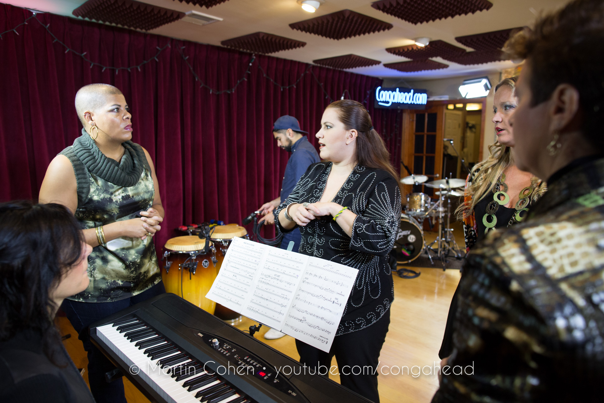 Coco Mama performs at Congahead Studio