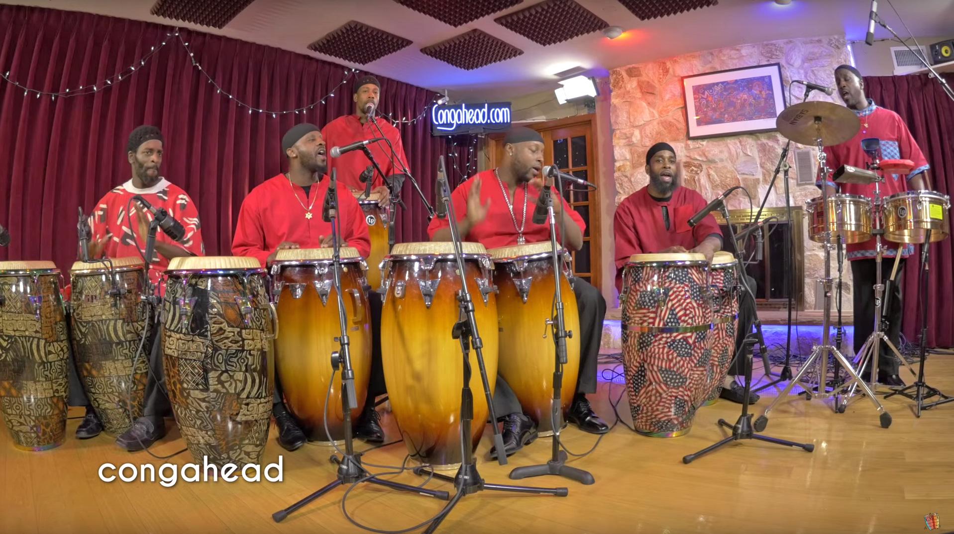 Mishpaka Drummers performing Ain Elohay