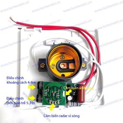 Đui đèn cảm ứng chuyển động radar, ánh sáng YFRL01