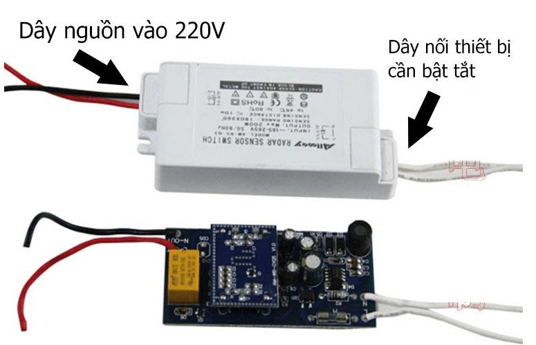 Công tắc cảm biến radar vi sóng 200w Allmay AM-RS-03NL