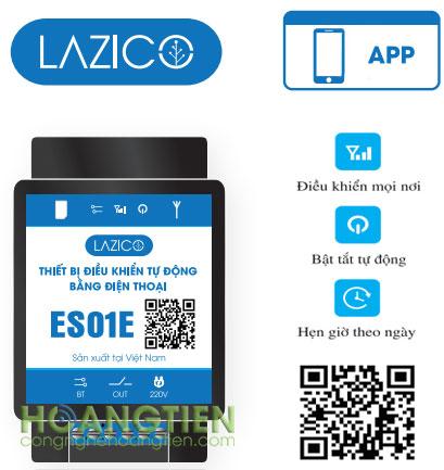 Công tắc điều khiển từ xa qua sim Lazico ES01E