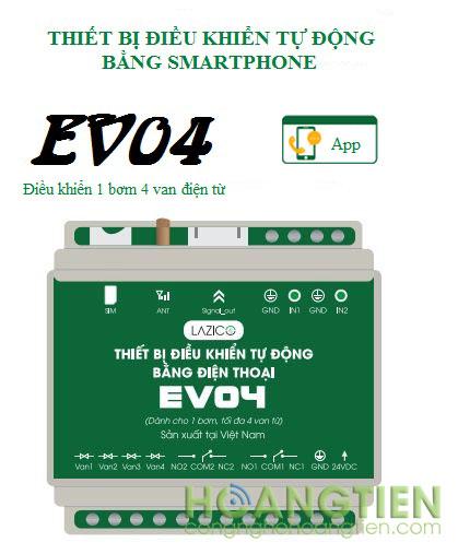 Bộ điều khiển bơm và van tưới qua điện thoại Lazico EV04