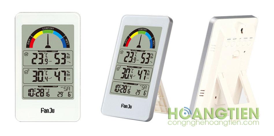 Đồng hồ nhiệt độ độ ẩm trong nhà và ngoài trời FJ3356