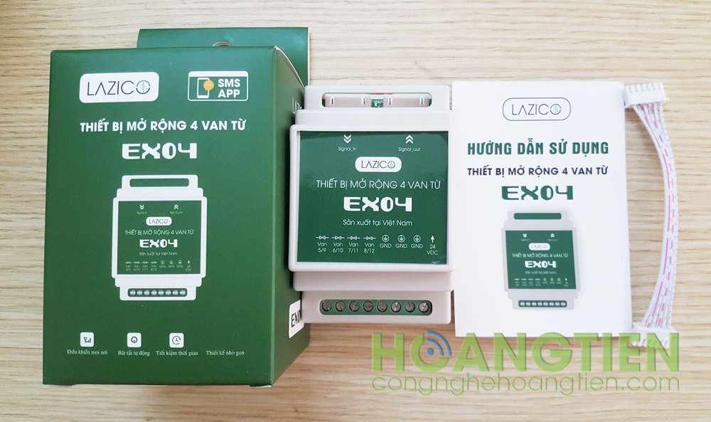 Thiết bị mở rộng 4 van từ Lazico EX04
