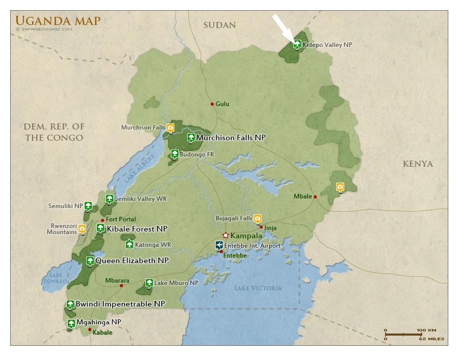 kidepo-national-park-map
