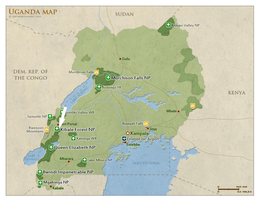 map-kibale-national-park