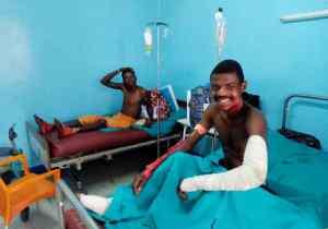 Marie-Olive Lembe Kabila au chevet des brûlés de l'accident de Mbuba