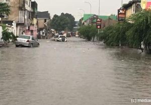 Kinshasa/ Kalamu vote sous les eaux