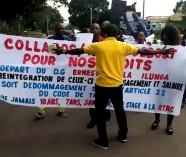 RDC : les agents collaborateurs de la RTNC réclament la tête de leur DG