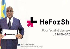 """RDC: F. Tshisekedi adhère à la campagne mondiale """" HeForShe"""" pour l'égalité des sexes"""