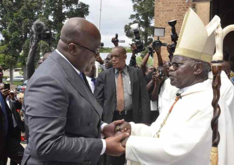 RDC: le cardinal L. Monsengwo bénit le mandat de F. Tshisekedi
