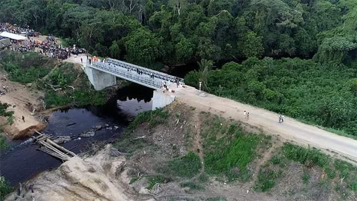 Programme 100 jours: F. Tshisekedi inaugure le pont de Lubuya à Kisangani