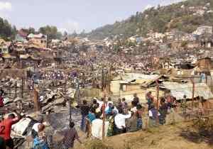 RDC/Bukavu: plus de 200 maisons calcinées par un feu d'origine inconnue