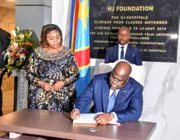 F. Tshisekedi inaugure la clinique de la classe moyenne LE PRÉSIDENT chez HJ Hospital