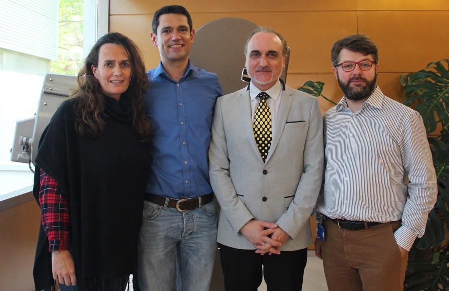 Atala Martín, brandend content manager en Prensa Ibérica; Millán Berzosa, responsable de Google News Lab para España; Salvador Molina, presidente de ProCom; y Pablo López Herrero, co-fundador de Galakia.com y formador de Periodismo Digital.