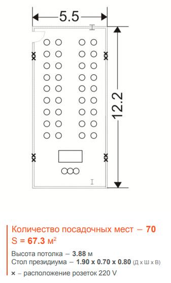 Крокус Сити Холл - Конференц зал B, 67,3 м2
