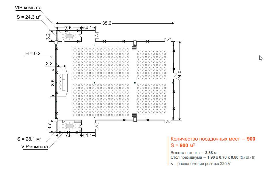 Крокус Сити Холл - Конференц зал 1+2, 900 м2