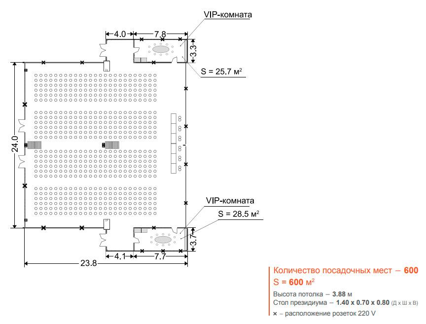 Крокус Сити Холл - Конференц зал 3+4, 600 м2