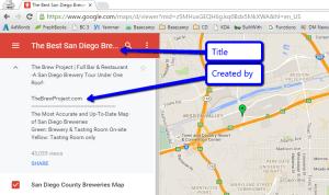 Google My Maps San Diego Breweries