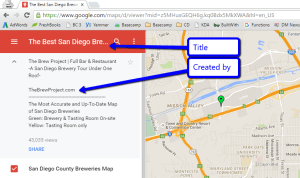 Google My Maps San Diego Breweries