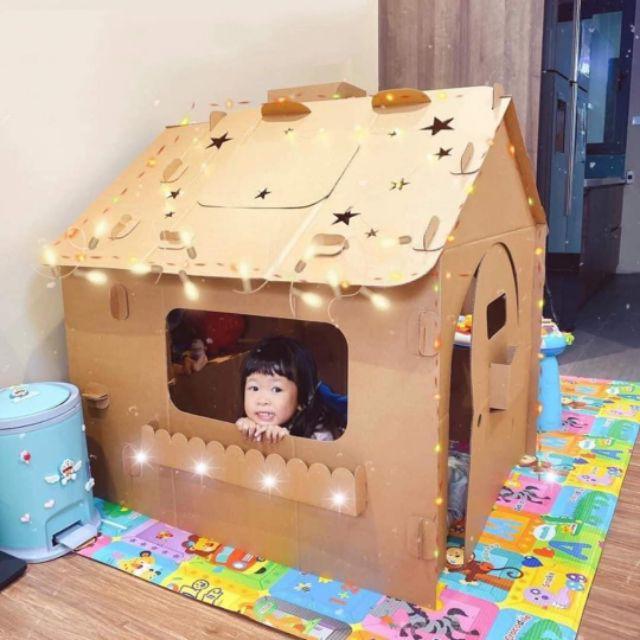 Cách làm nhà bằng thùng carton