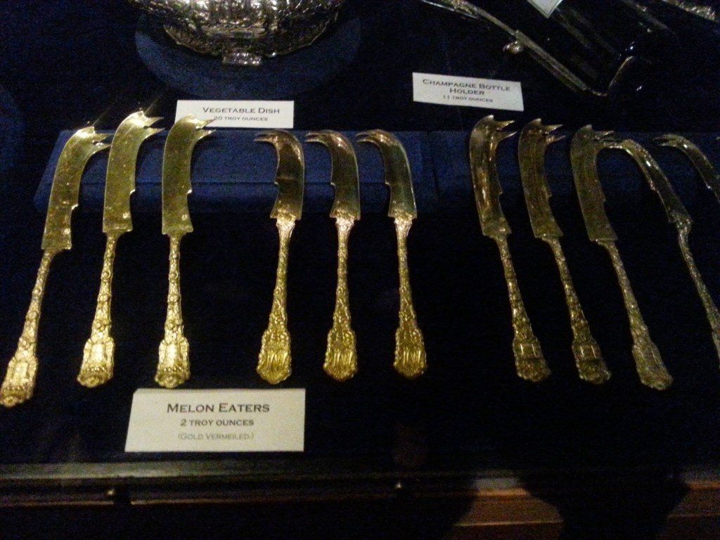 And how many melon knives are in your silver service???