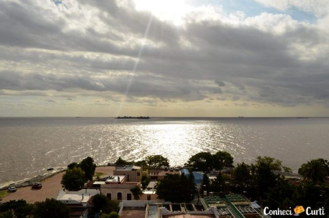 Rio da Prata visto de cima do Farol em Colonia del Sacrmaento.
