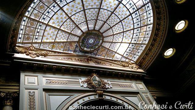 Teto da Câmara dos Deputados. Palácio Legislativo de Montevideo