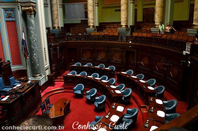 A sala do Senado. Palácio Legislativo de Montevideo