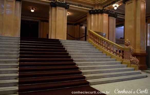 A escadaria principal