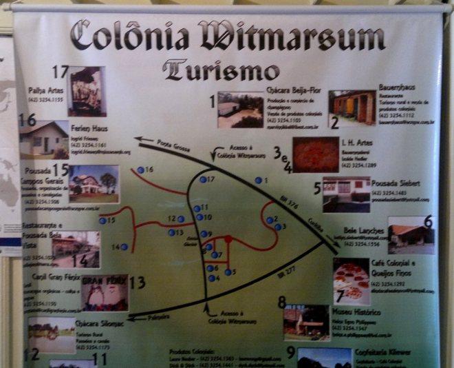 Colônia Witmarsum - turismo