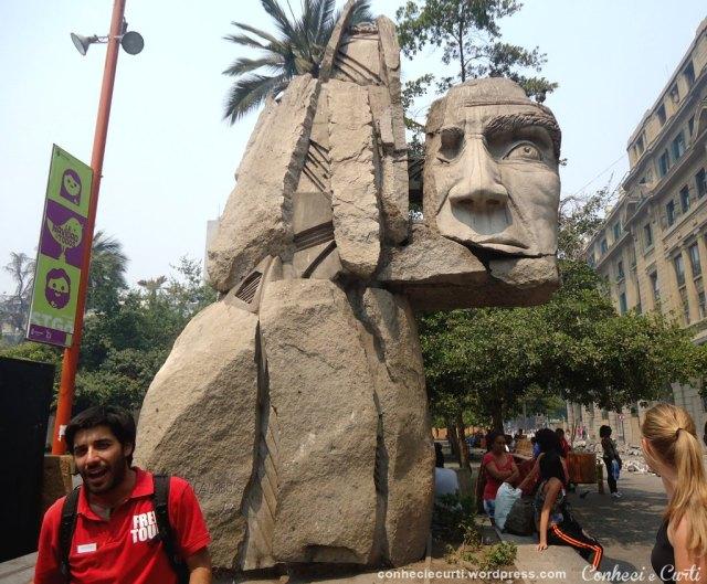 Plaza de Armas em Santiago, Chile. Free-Tour