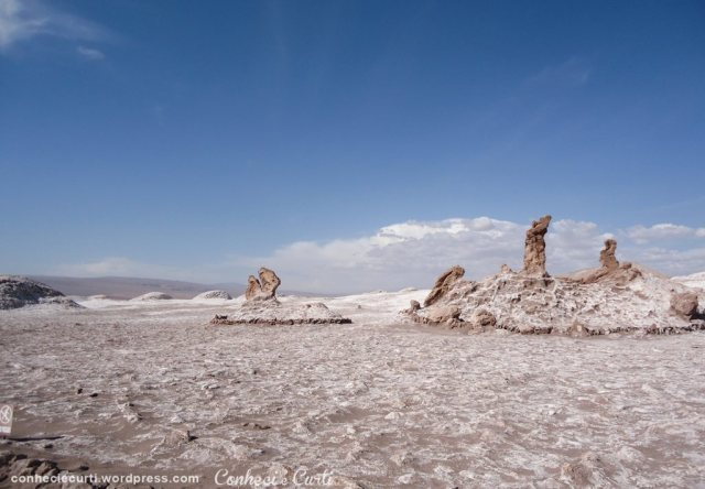 Las Tres Marías, raras esculturas de sal - Vale da Lua, Deserto do Atacama, Chile