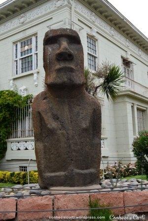 Moai da Ilha de Páscoa no Museu Fonck