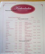 Cardápio Kuchenladen, Frutillar