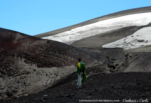 Subindo o Vulcão Osorno, Região dos Lagos, Chile