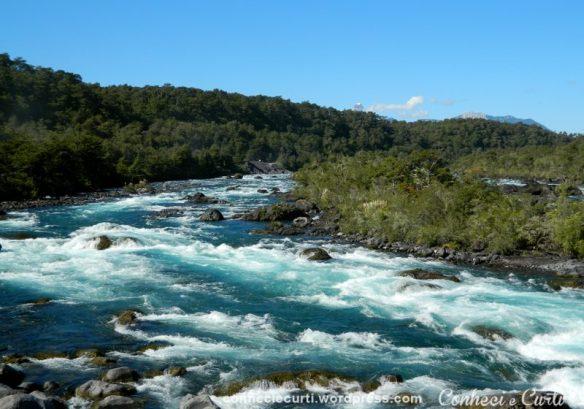 Rio Petrohué com suas águas cor verde esmeralda, Chile