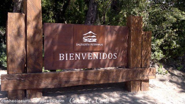 Saltos de Petrohué, entrada do parque.