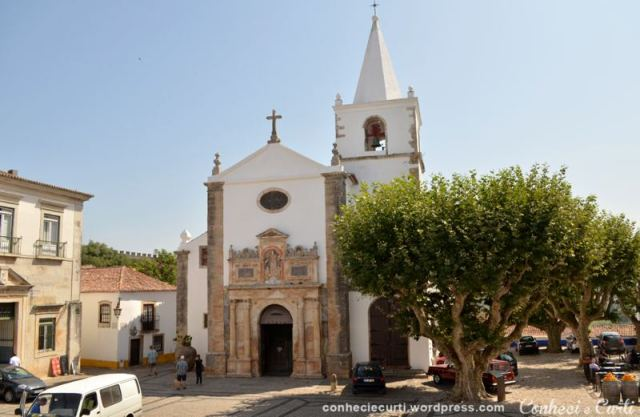 Igreja Santa Maria em Óbidos, Portugal.
