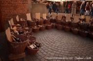 Garrafas na Feira Medieval Bremen no Natal