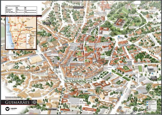 Mapa da cidade de Guimarães