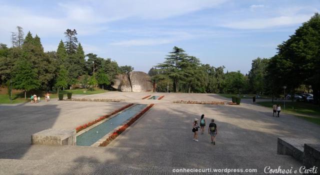 Os jardins no Santuário da Penha. Guimarães - Portugal.